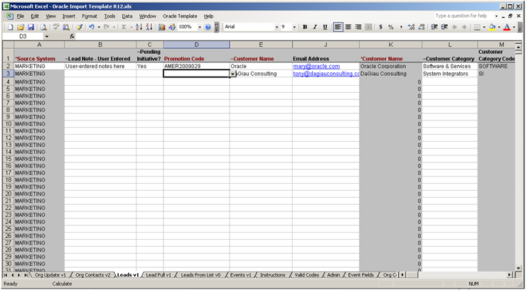 Excel import workbook