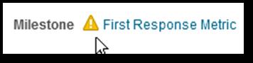 First Response milestone warning indicator