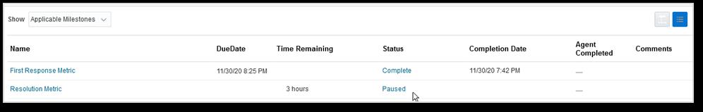 SR Resolution milestone paused